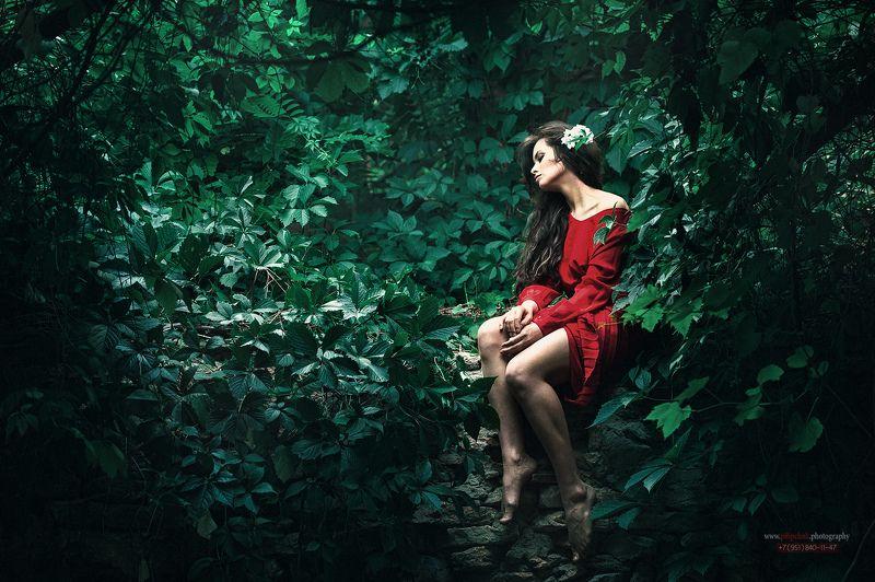 девушка, портрет, фото девушки, девушка в листве, взгляд девушки ***Alina**photo preview