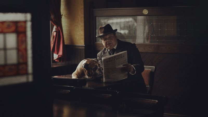 Wright Brothers, English bulldog, portrait, Gentleman, film, story, slide movie In the pubphoto preview