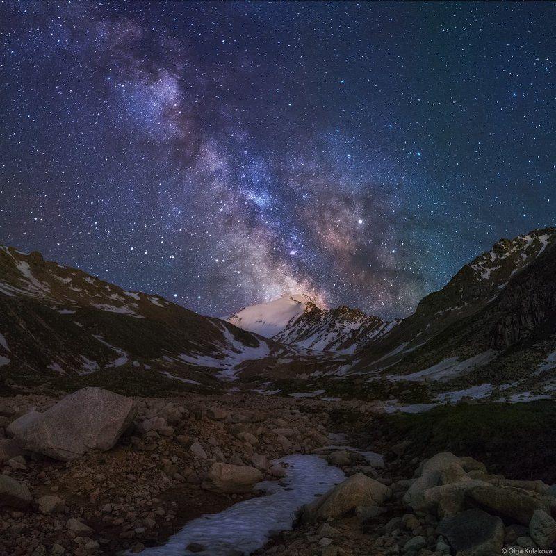 горы, млечный путь, пик советов, кумбельсу, заилийский алатау, ночное небо Ночь в ущелье Кумбельсуphoto preview
