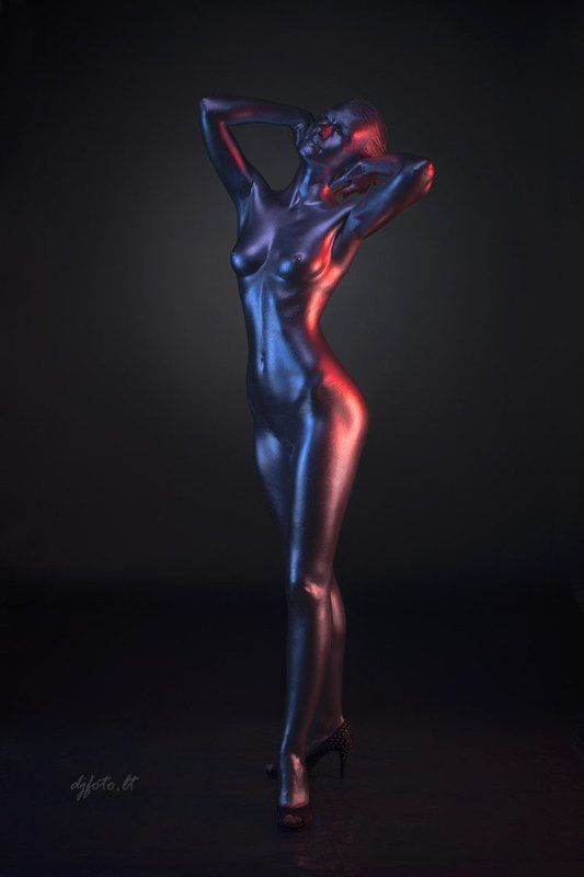 djfoto, metalography, body painting, body art, nude ***photo preview