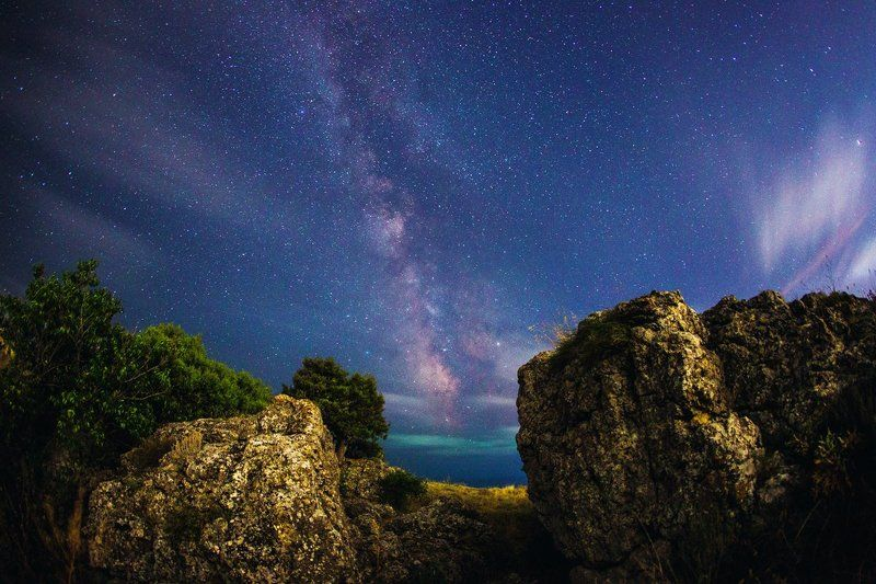 ночь, млечный путь, крым, звёзды Расколphoto preview