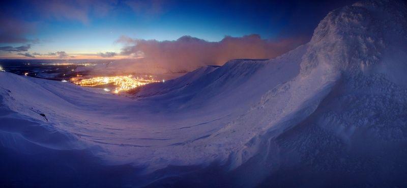кольский полуостров, Хибины, Кировск, зима, снег, горы, Заполярье В снежном пленуphoto preview