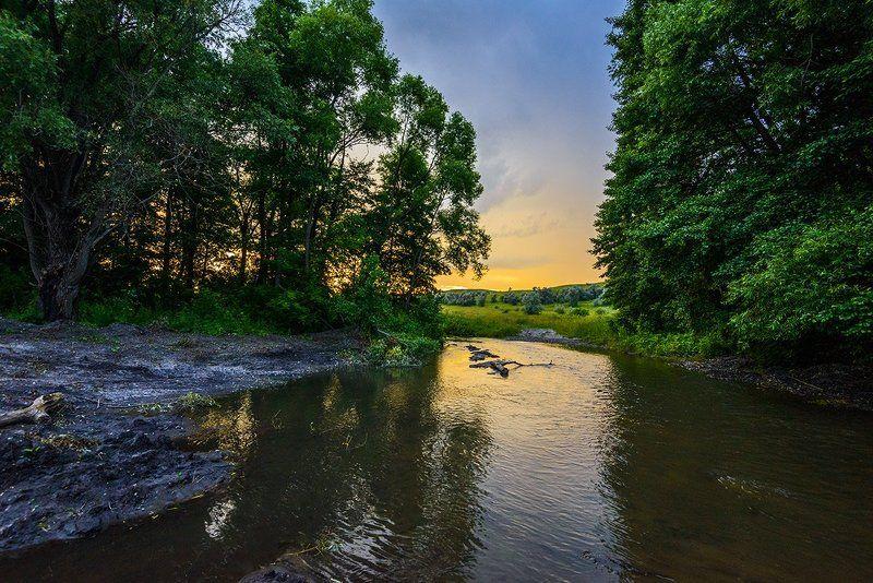 лето, вечер, речка Речка...photo preview