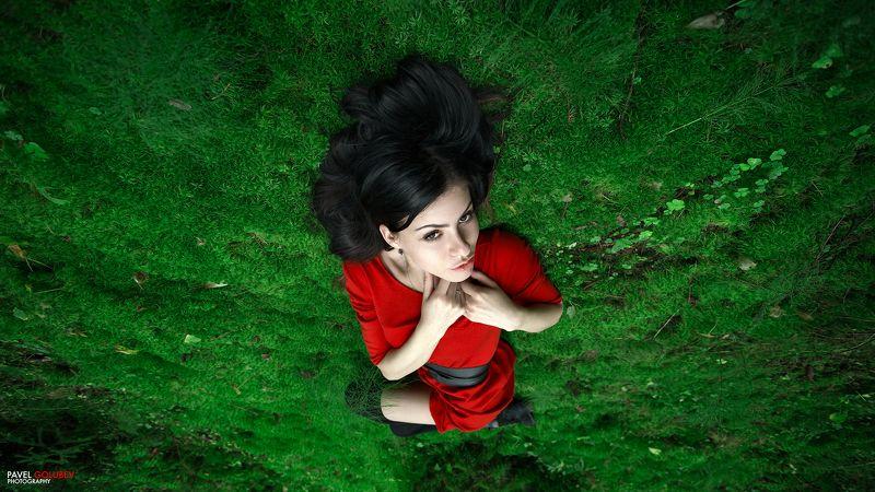 golubevphoto, woods, grass, nature, portrait, girl, beautiful, red, dress, colors, лес, трава, мох, природа, портрет, девушка, платье, красное, цвета Into the wildphoto preview
