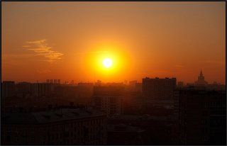 Как над Москвою прогулялось солнце