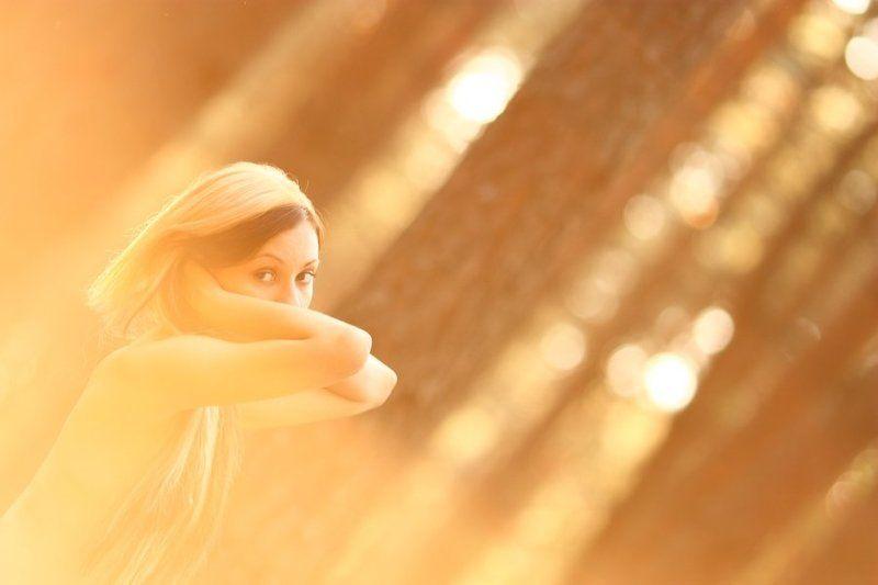 солнце, портрет, девушка Золотое утроphoto preview