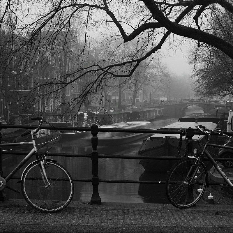 город, фото, велосипед, амстердам два велосипедаphoto preview