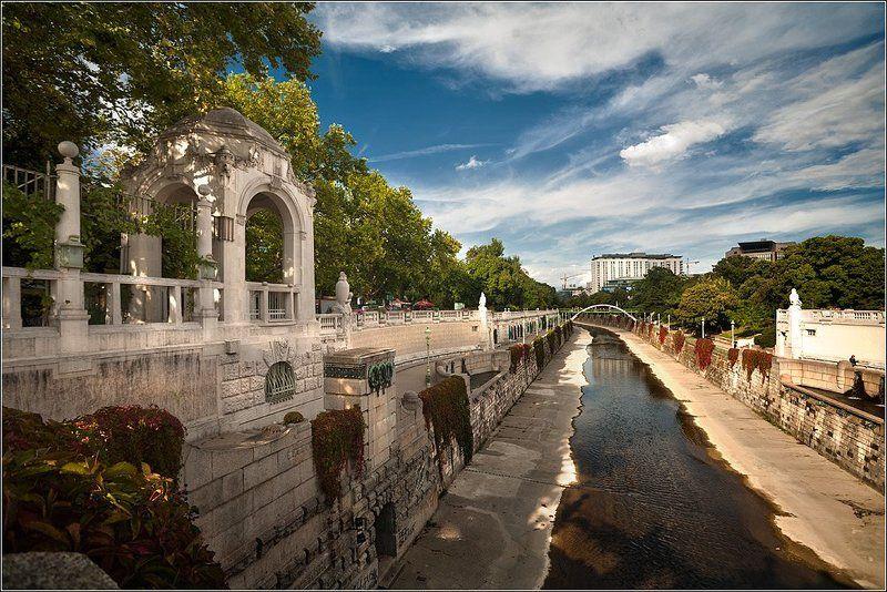 вена, австрия stadt park (могучая река вена)photo preview