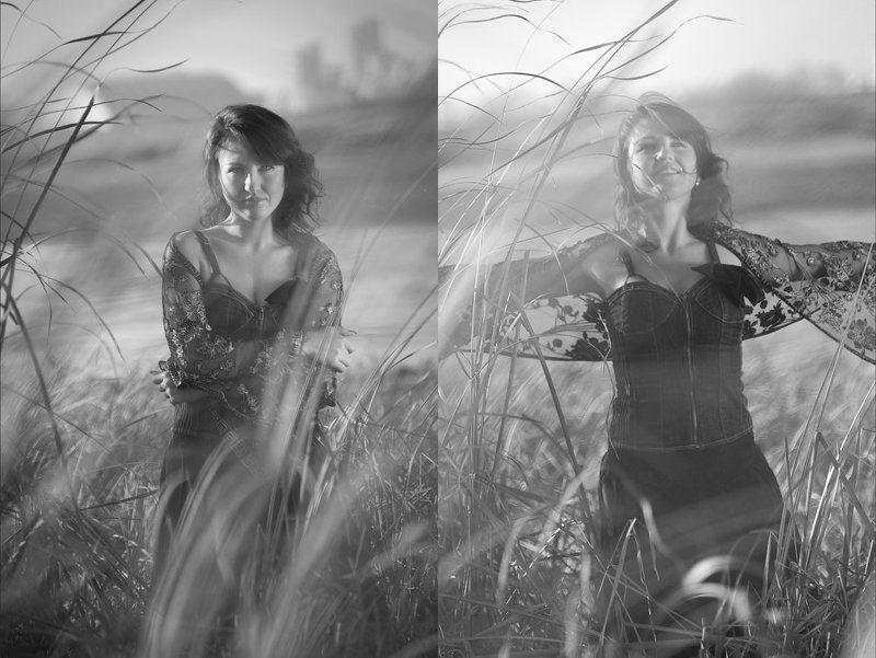 пртрет, ч/б, осень, nikon пара этюдовphoto preview