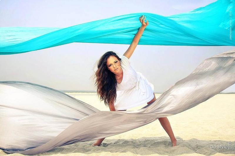 пески, пустыня, девушка, ткани Desertphoto preview