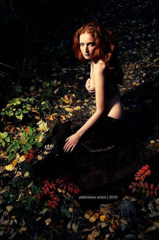 лес, листья, осень, девушка Forest Fairyphoto preview