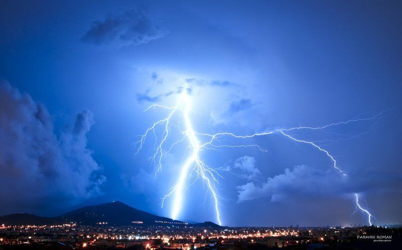 night, greece, athens, imitos, lightning Night lightningsphoto preview