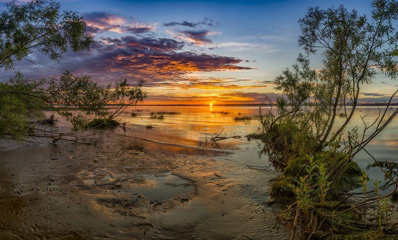 Закат на Северной Двинеphoto preview