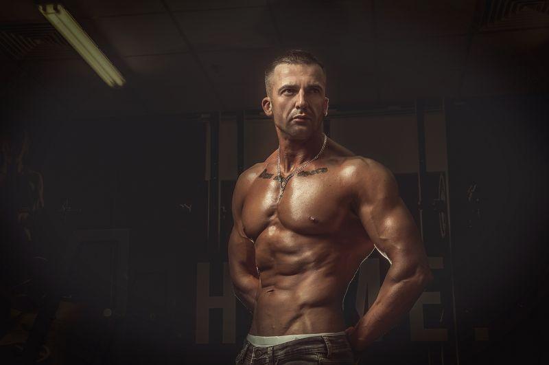 атлет, красивое тело, мужская съемка. спорт Атлетphoto preview