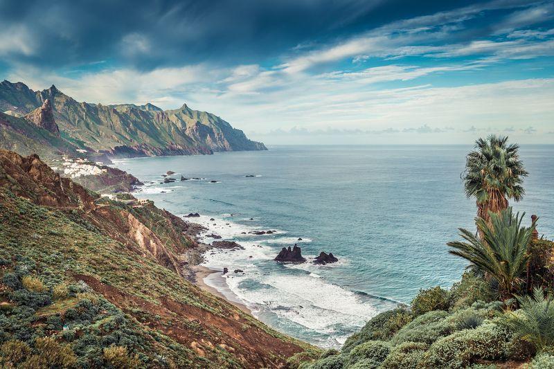 океан тенерифе пейзаж канары горы скалы Местечко Benijophoto preview