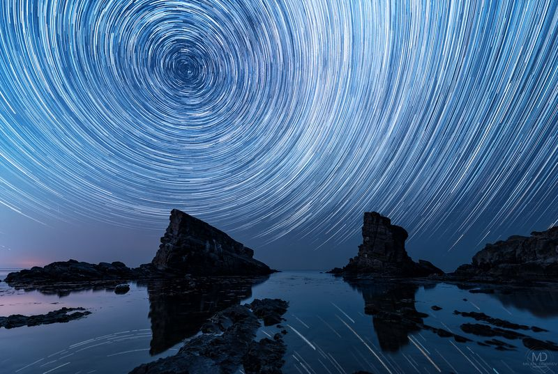 milky way, startrails, night, Bulgaria photo preview