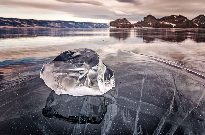 Байкал, зима, пейзаж, лёд Байкалphoto preview