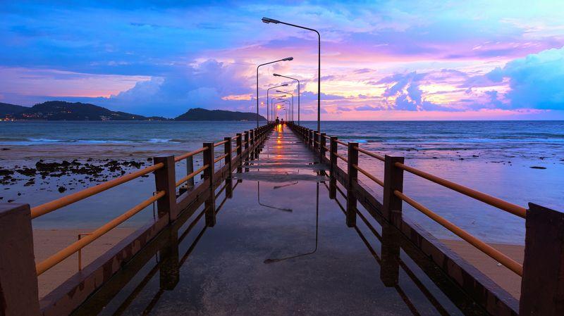 пхукет, тайланд, остров, пирс, причал, phuket, thailand, thai, island, pier, seascape, sunset Романтичный вечер ...photo preview