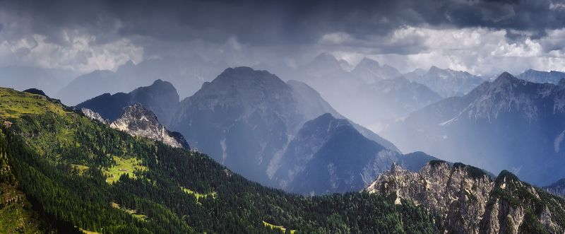 австрия, каринтия, дождь, панорама, горы, лето, июль Коротко о погодеphoto preview