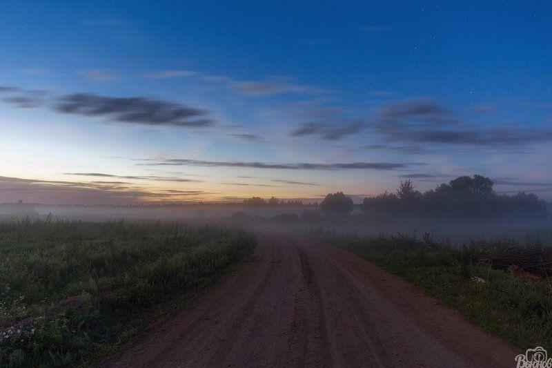 туман,пейзаж,подмосковье,раменье,дмитров Дорога в туманphoto preview