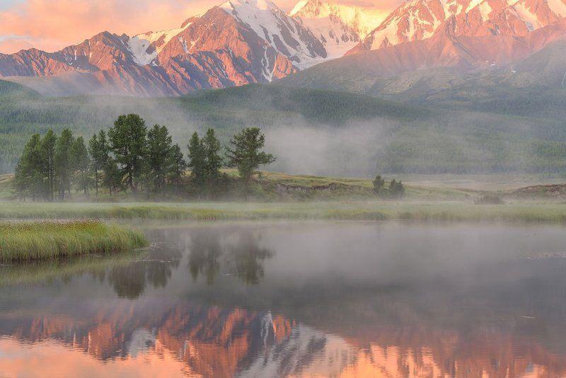 рассвет, туман, алтай, ештыкель, счх, dawn, fog, altai Рассвет на Ештыкельphoto preview