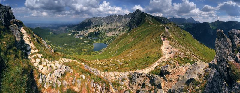 татры, польша, панорама, горы, лето, июль Тропами Высоких Татрphoto preview