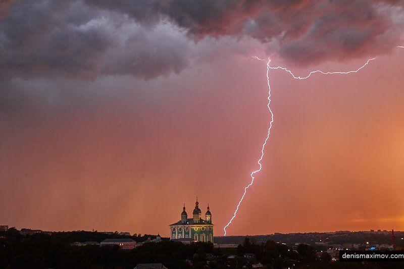 Смоленск, гроза Гроза на закатеphoto preview