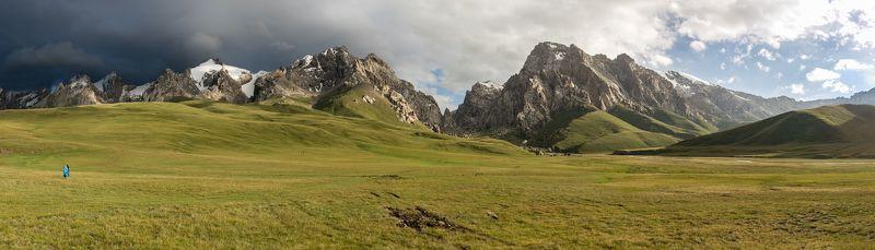 озеро, Киргизия, Кель-Суу, путешествие, Kyrgyzstan, Kel-Suu, mountains Дорога на Кель-Сууphoto preview
