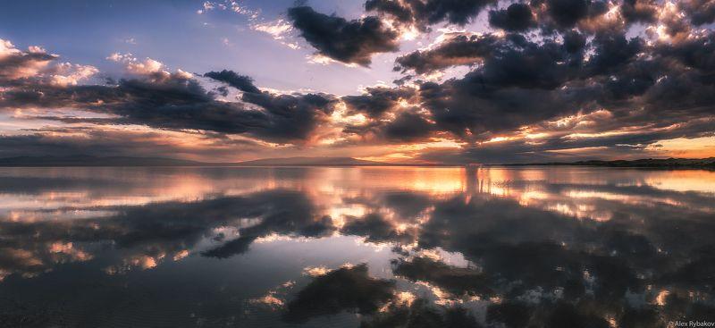 отражения, закат, озеро Закат на озереphoto preview