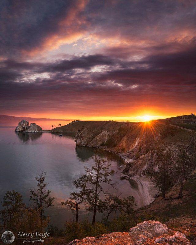 рассвет, ольхон, байкал, пейзаж, озеро, остров, солнце, утро, hdr На рассветеphoto preview