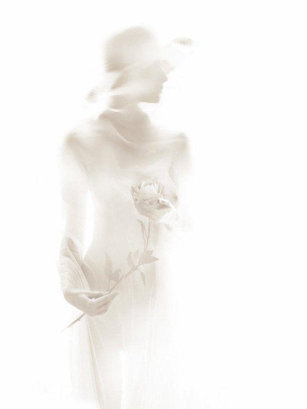 девушка, шляпа, цветок Воспоминаниеphoto preview