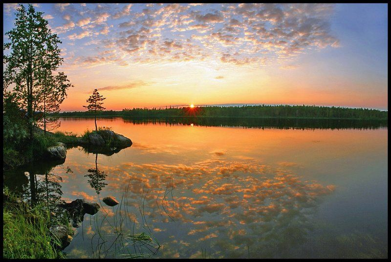 кереть, карелия Вечер на варацком озереphoto preview