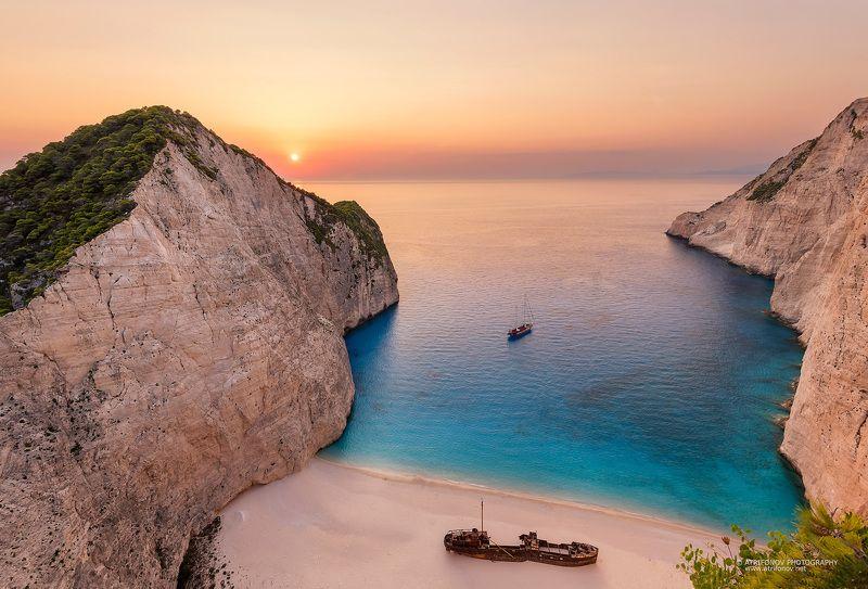 Navagio, Zakynthos, Greece, beach, shipwreck, ioanian sea,sunset Navagiophoto preview