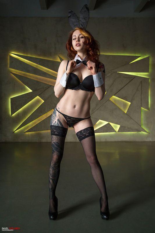 golubevphoto, bunny, sexy, lingerie, girl, tattoo, black, spb, питер, тфп, портрет Зайкаphoto preview