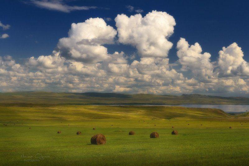 хакасия, степь, облака Хакасские просторыphoto preview