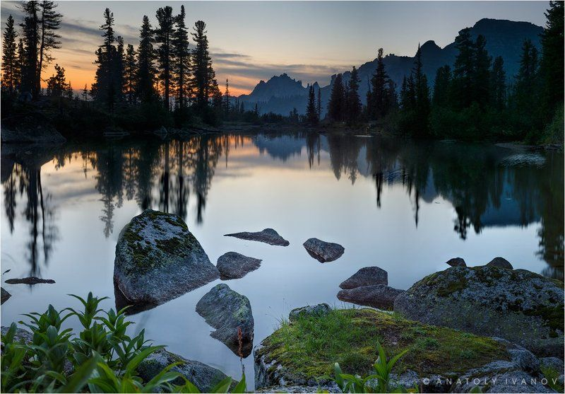 Закат на Лазурном озереphoto preview