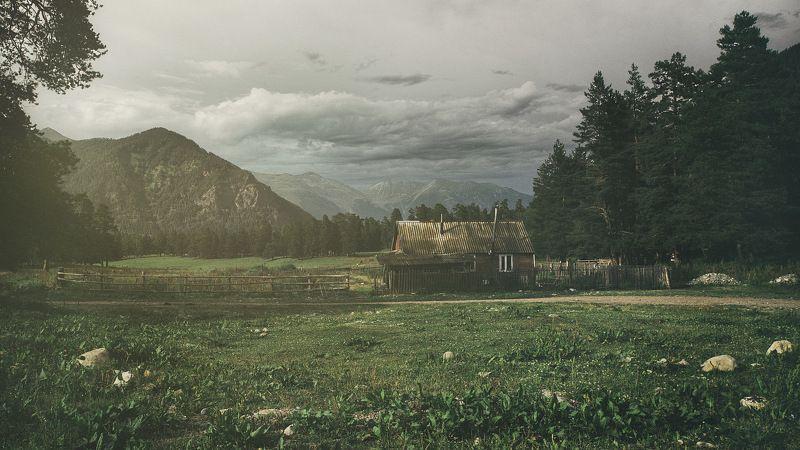 пейзаж вечер, горы, Кавказ, лето, природа, небо, зелень Good Eveningphoto preview