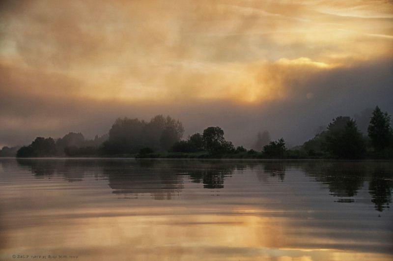 река,вода,утро,туман,солнце,рыбалка, Тишь да гладь.photo preview