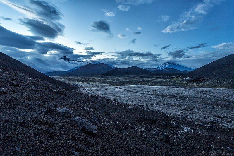 камчатка, вулканы, облака, вечер Марсианский пейзажphoto preview