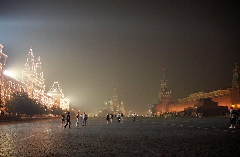 красная, площадь, москва, дым Красная площадьphoto preview