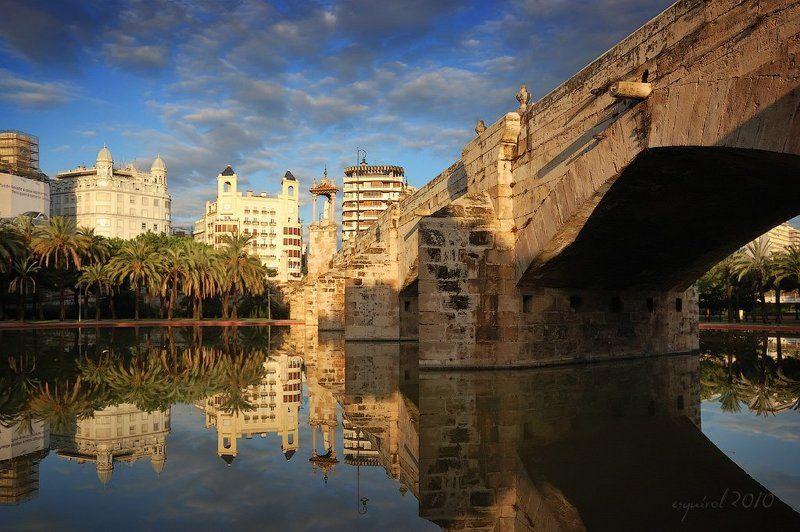 валенсия, испания, город, мост, городской пейзаж Валенсияphoto preview