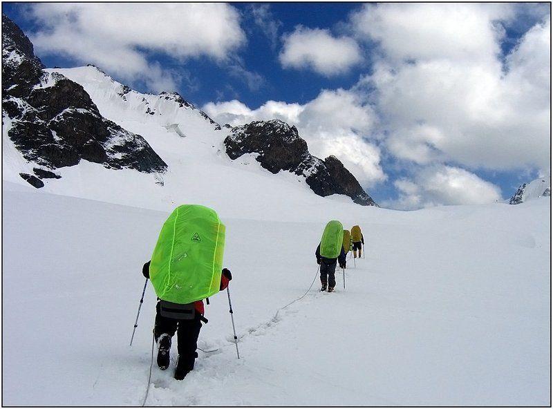 тянь-шань, ледник, перевал За перевалом юг...photo preview