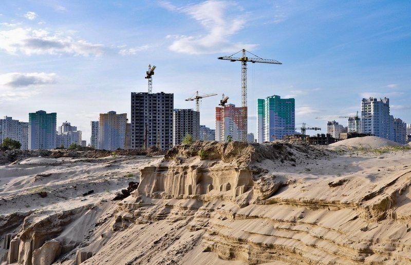 город, песок, стройка, киев Город на песке..photo preview