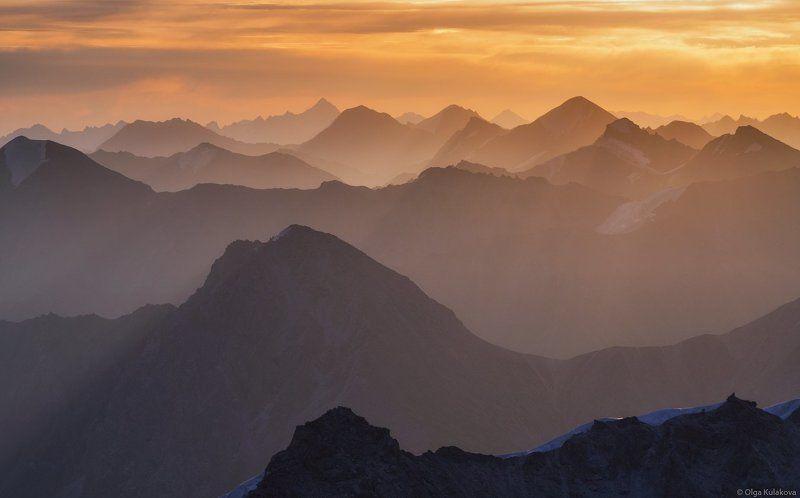 рассвет, тянь-шань, горы, пик астана, вершины ***photo preview