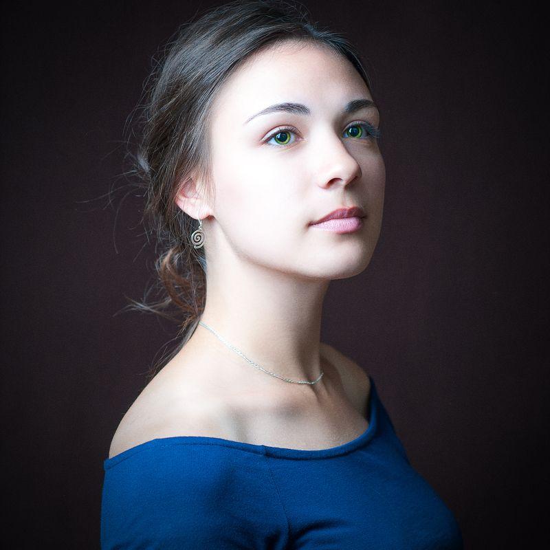 портрет, студийный портрет, eye, girl, people, portrait, face Аннаphoto preview