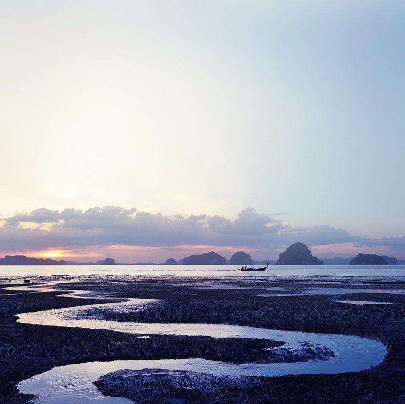 настроение, медитация, лето, море, лодка, закат, тайланд, краби, созерцание, mood, travel, sunset, meditation, tailand *photo preview
