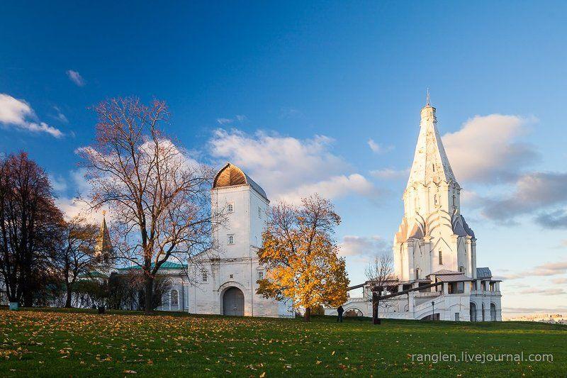 коломенское, москва, осень, золотая, небо, пейзаж Осеньphoto preview