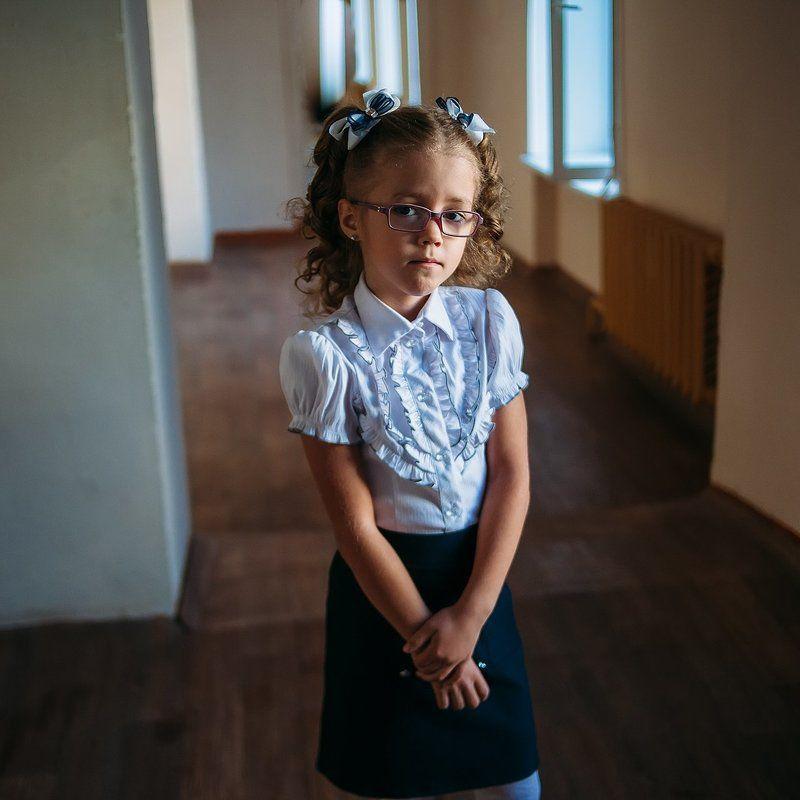 портрет, ребенок, девочка, первыйкласс, школа, 1сентября Первый классphoto preview