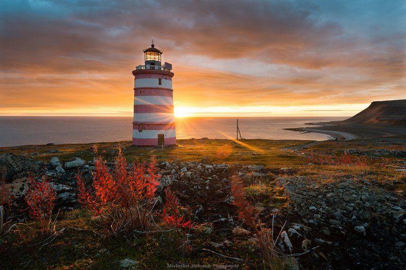 заполярье, кольский, баренцево море, остров, кильдин Кильдинский маякphoto preview