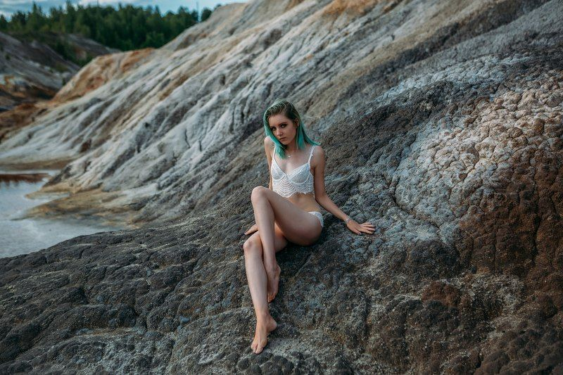девушка,бельё,пустыня Анастасияphoto preview
